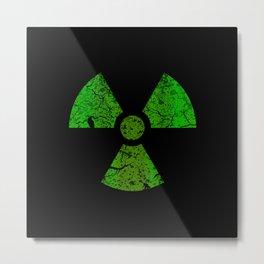 Radioactive Symbol Metal Print