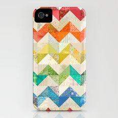 Chevron Rainbow Quilt Slim Case iPhone (4, 4s)