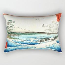 The Great Wave. The Sea At Satta Rectangular Pillow