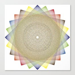 Wire Frame Lotus Canvas Print