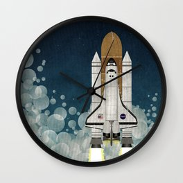 Space Shuttle NASA Launch Wall Clock