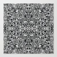 zentangle Canvas Prints featuring Zentangle  by Zenspire Designs