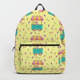 Icecream Cart Yellow Backpack