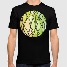 Lemon & Lime Love - abstract painting in yellow & green Mens Fitted Tee MEDIUM Black