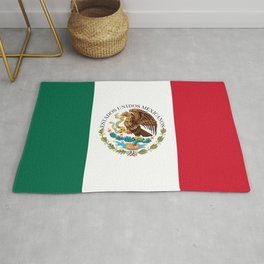 Flag of Mexico - alt version with seal insert Rug