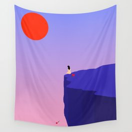 Cliff//Rose Wall Tapestry