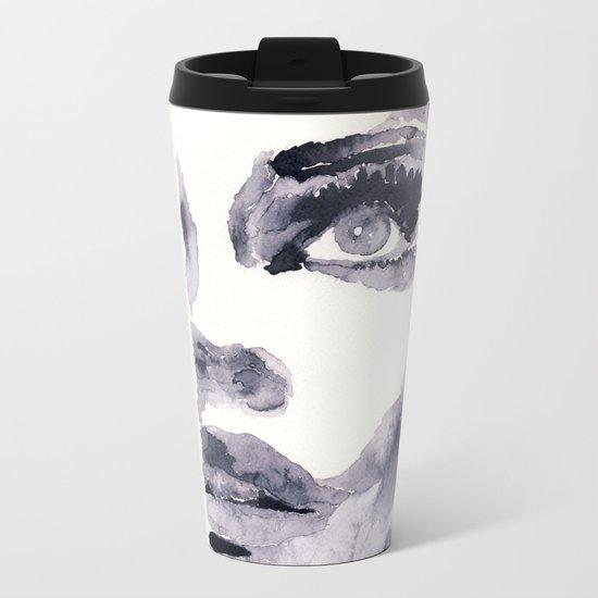 Epiphany - ink wash Metal Travel Mug