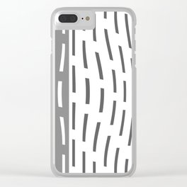 Pattern In Gray And Whte Clear iPhone Case