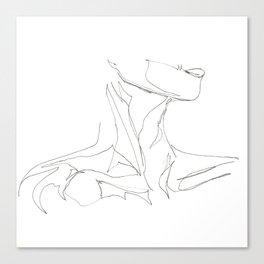 Line XII (female [collar]) Canvas Print
