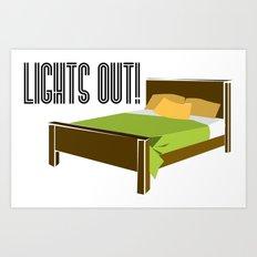 Lights Out! Art Print