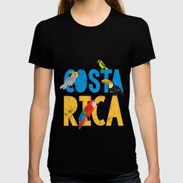 Costa Rica Bird Traveler Tourist Cute Bird Lover T-shirt