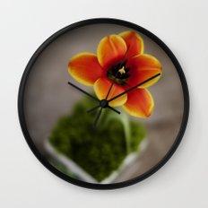 FLOWER ON FIRE Wall Clock