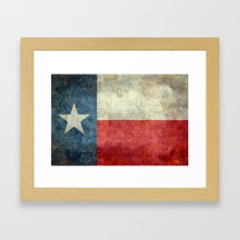 Texas State Flag, Retro Style Framed Art Print