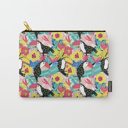 Toucan floral pattern Carry-All Pouch