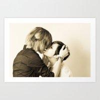 lesbian Art Prints featuring Lesbian Love by Yuraki