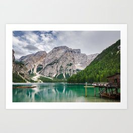 Mountain Lake Photo Print - Lago di Braies, the Dolomites Art Print