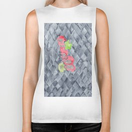 Becoming | 190213 Watercolour Abstract Painting Biker Tank