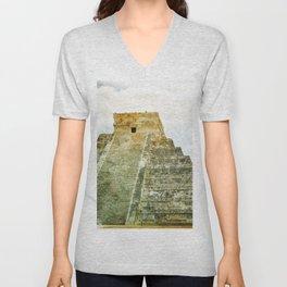 Chichen Itza pyramid Unisex V-Neck
