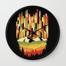 Sunset in Vertical Wall Clock