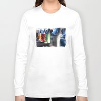 hippy Long Sleeve T-shirts featuring Hippy Vans by Barbo's Art