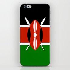 Kenyan national flag - Authentic version iPhone & iPod Skin