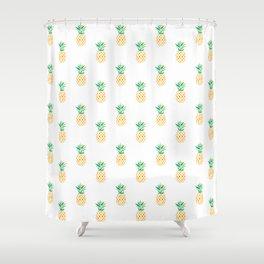 Summer Pineapple Shower Curtain