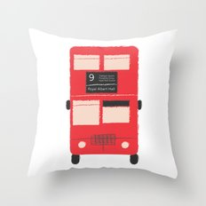 Red Double Decker Bus  Throw Pillow