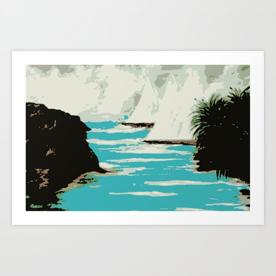 Sailing The Coast Of California Art Print