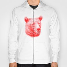 Brown bear is red and pink Hoody