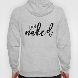 get naked (black) Hoody