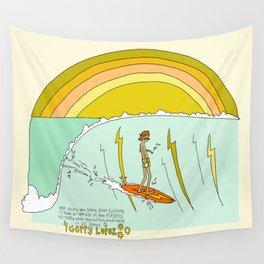 surf legend gerry lopez lightning bolt retro surf art by surfy birdy Wall Tapestry