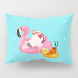 Cory cats in the swimming pool 2 Pillow Sham