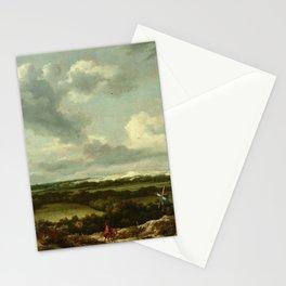 Jacob van Ruisdael - Dune Landscape with a Rabbit Hunt Stationery Cards