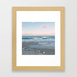 Sunset surf Framed Art Print