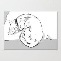 shiba Canvas Prints featuring Shiba Inu by Cassandra Jean