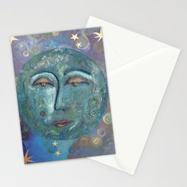 peaceful moon Stationery Cards