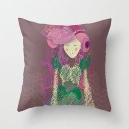 Mauve Periwinkle Pastel Throw Pillow