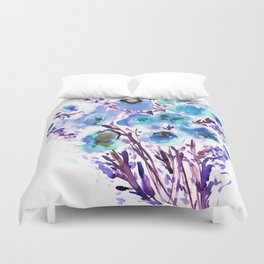 Bouquet Blue Duvet Cover