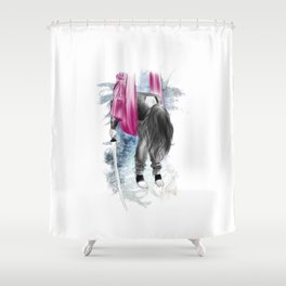i am ninja 01 // tired ninja Shower Curtain