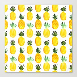 Pineapple love || watercolor Canvas Print