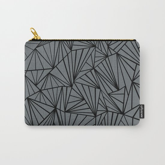 Ab Fan Grey and Black Carry-All Pouch
