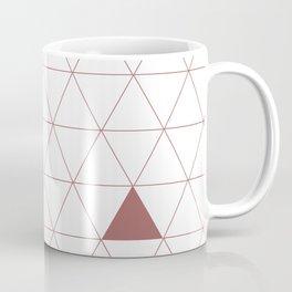 Triangles 123, Red Coffee Mug