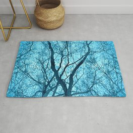 Looking Through Glass Trees (ice blue) Rug