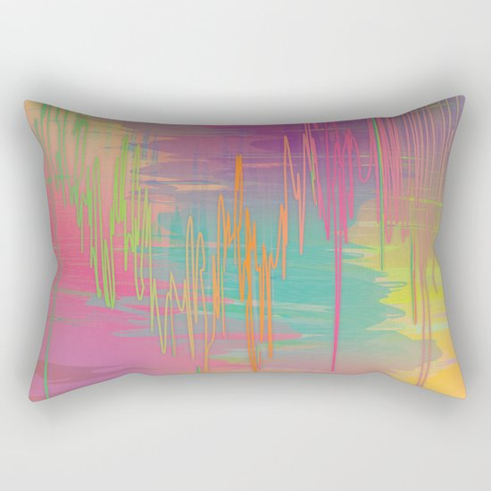 Rainbow Storm Rectangular Pillow