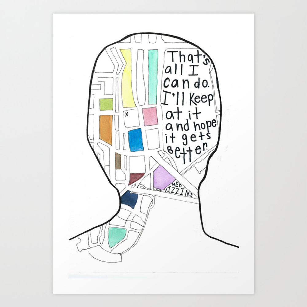 It's Kind Of A Funny Story Art Print by Missouriinmay PRN2263070