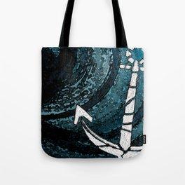 NAUTICAL CHIC (ANCHOR) Tote Bag