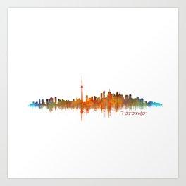 Toronto Canada City Skyline Hq v02 Art Print