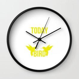 Used to be Noisy But Funny Talking Bird Tshirt Design I m talking to my bird Wall Clock