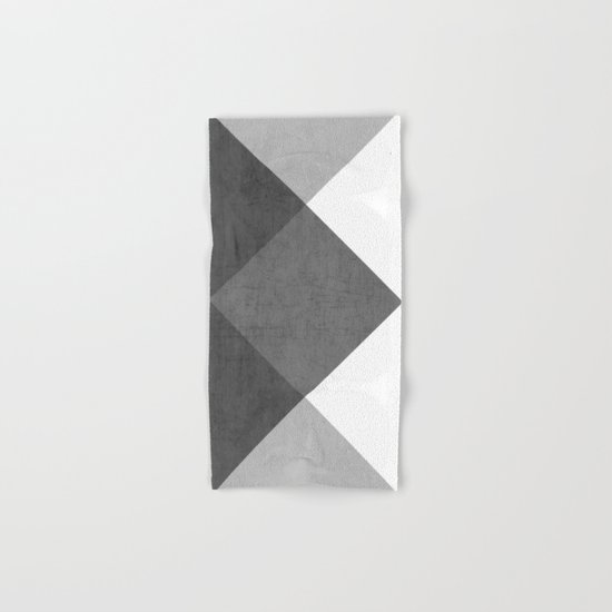 black and white triangles Hand & Bath Towel