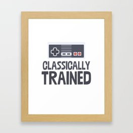 Classically Trained Framed Art Print